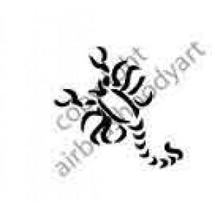 0241 scorpion reusable stencil